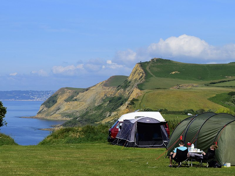 Camping and campsites in the UK.